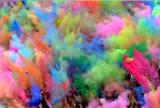 American Package Group Festival of Colors and Color run colored powders